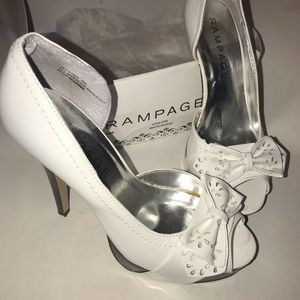 Rampage heels size 7.5 white patent